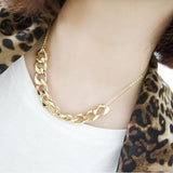 Elegant Chunky Chain Necklace