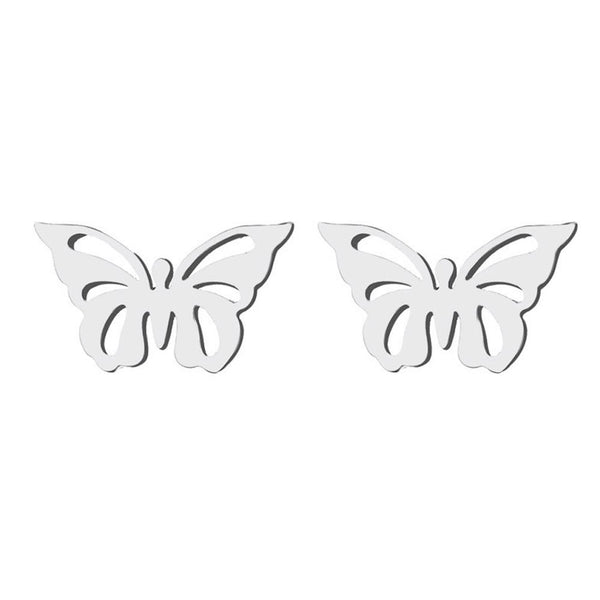 Stainless Steel Butterfly Stud Earrings - Mini Trinkets