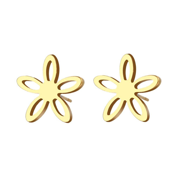 Stainless Steel Daisy Stud Earrings