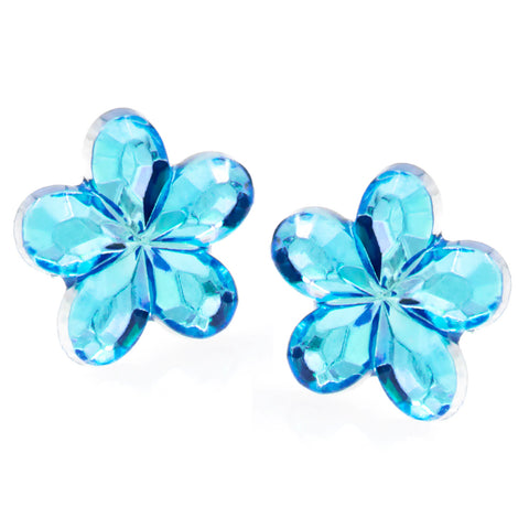 Hypoallergenic Flower Crystal Stud Earrings