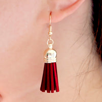 Gold Plated Bohemian Tassel Drop Earrings