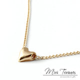 Sweet Heart Love Charm Necklace - Gold