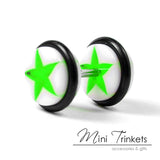 Star Dumbbell Fake Stretcher Earring