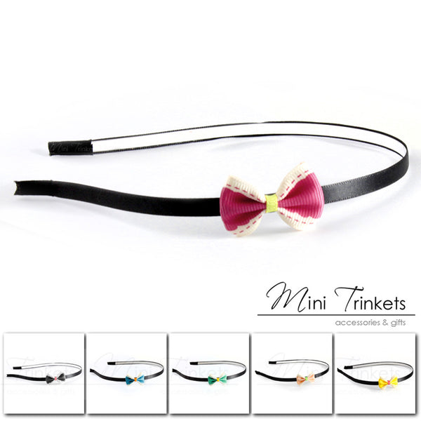 Grosgrain Bow Alice Band