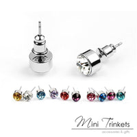 Swarovski Elements Round Solitaire Stud Earrings