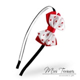 Satin Heart Bow Alice Band