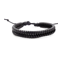 Handmade Leather Braided Surfer Bracelet - K