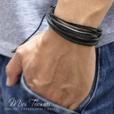 Handmade Leather Braided Surfer Bracelet - I
