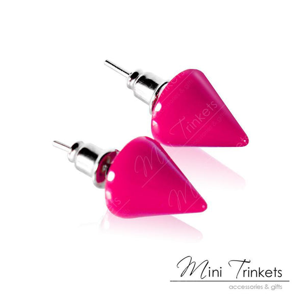 Acrylic Cone Spikes Stud Earrings