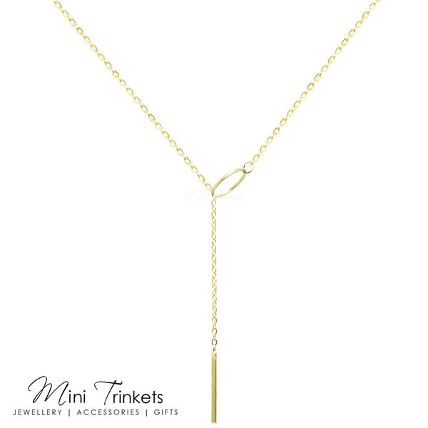 Lariat Bar Drop Necklace