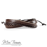 Handmade Leather Braided Surfer Bracelet - A