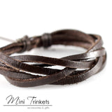 Handmade Leather Braided Surfer Bracelet - B