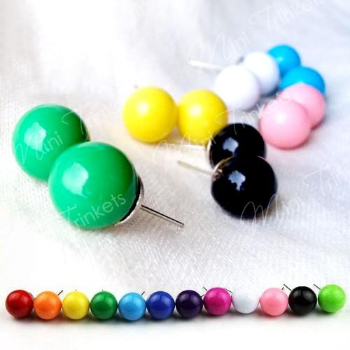 Candy Ball Stud Earrings - Mini Trinkets