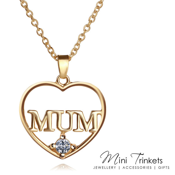 Gold Plated Mum Necklace