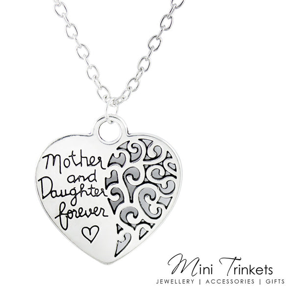 Mother And Daughter Forever Heart Necklace