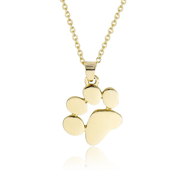 Gold Cat / Dog Paw Necklace - Mini Trinkets