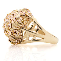 Shamballa Style Austrian Crystal Cocktail Statement Ring