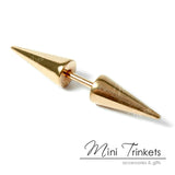 Stainless Steel Double Spike Stud Earring