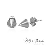 Stainless Steel Cone Spike Stud Earrings