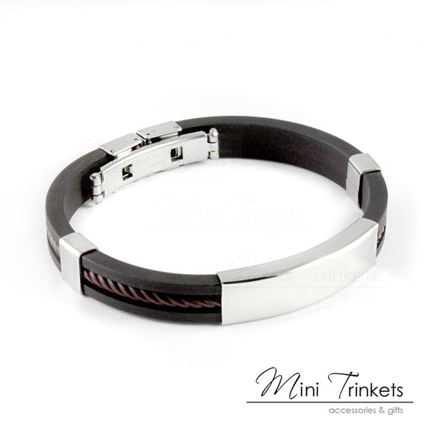 Stainless Steel ID Bracelet - Black