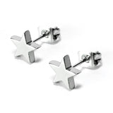 Stainless Steel Star Stud Earring