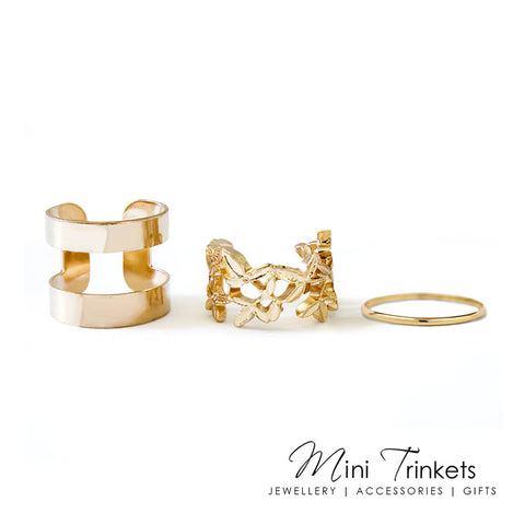 Set of 3 Stack / Midi Rings
