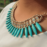 Bohemian Bead Statement Necklace
