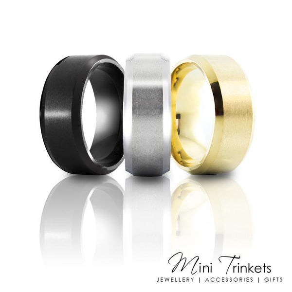 6mm Titanium Brushed Ring - Mini Trinkets