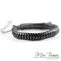 Handmade Leather Braided Surfer Bracelet - G