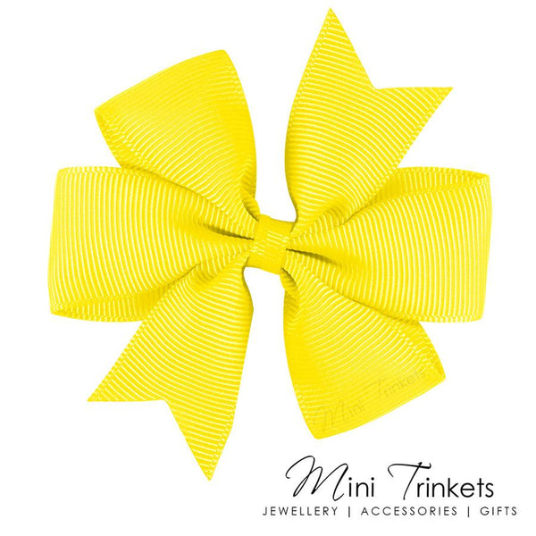 2x Pinwheel Ribbon Bow Hair Clip