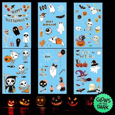 Children's glow in the dark halloween temporary tattoos