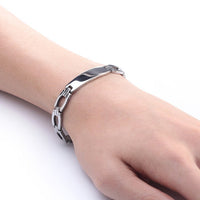 Platinum Plated 316L Surgical Stainless Steel ID Bracelet