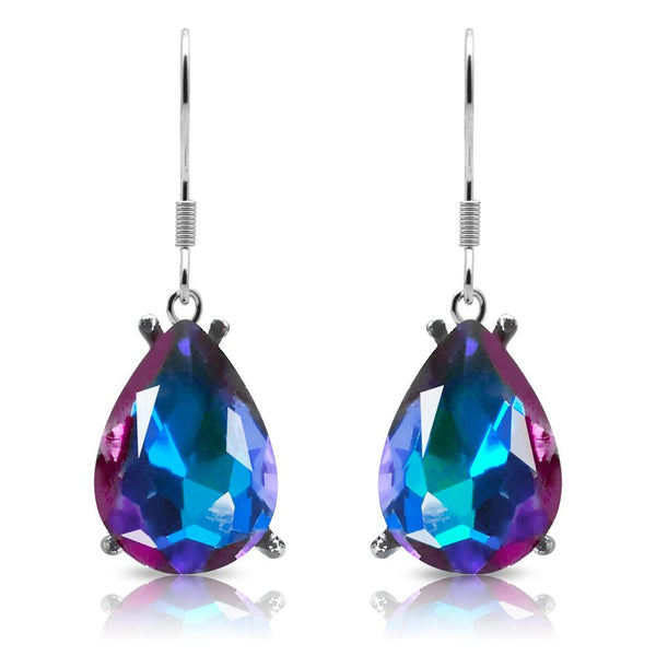 Silver Plated Multi Coloured Teardrop Hook Earrings