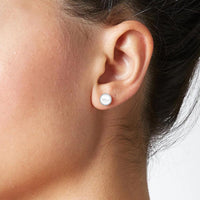 Stainless Steel Pearl Stud Earrings - Mini Trinkets