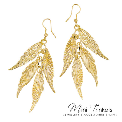 Leaf Tassel Earrings