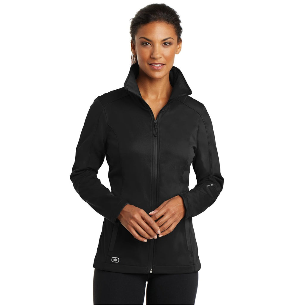 A WWC Soft Shell Ladies Jacket in Black A5OSSJ