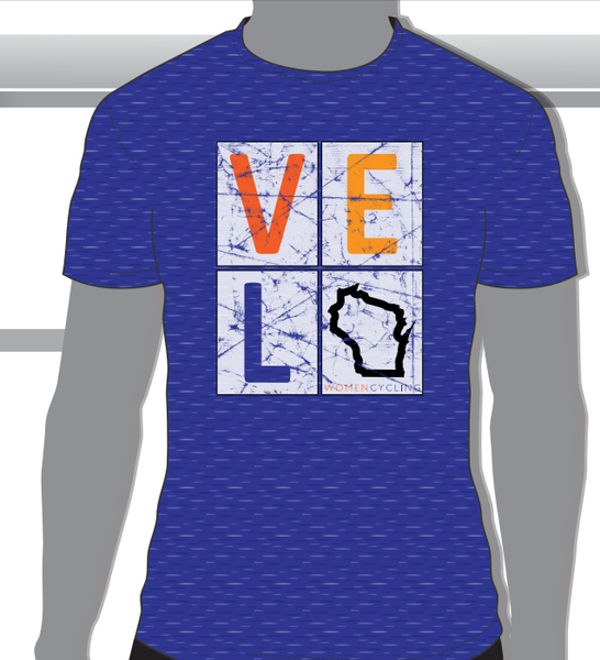 T-Shirt - Men's Velo Wisconsin