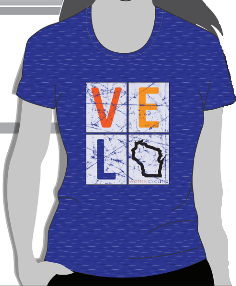 T-Shirt - Ladies Velo Wisconsin