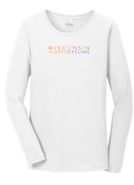 Long Sleeve T-shirt - WWC logo on Ladies 100% Ring Spun Cotton Tee