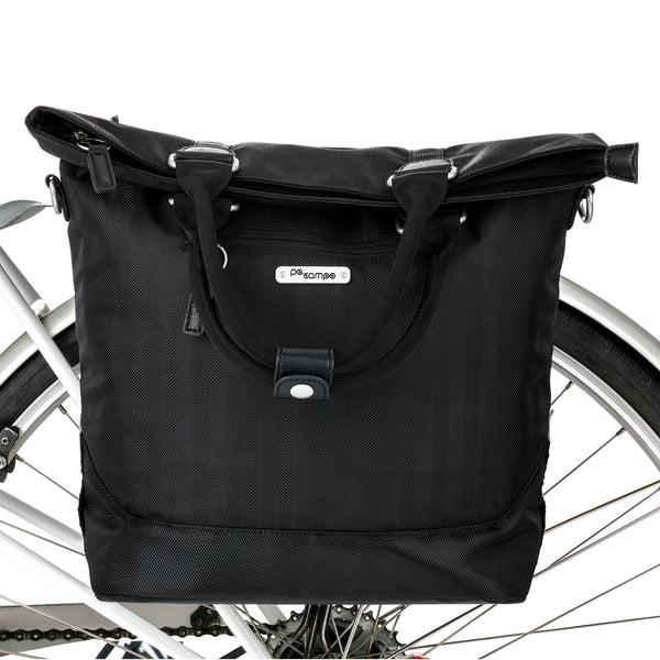 PoCampo Begen Pannier in Black Herringbone or Mosaic