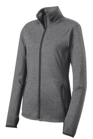 A WWCycling Club Jacket - Ladies in Grey Heather (full zipper)