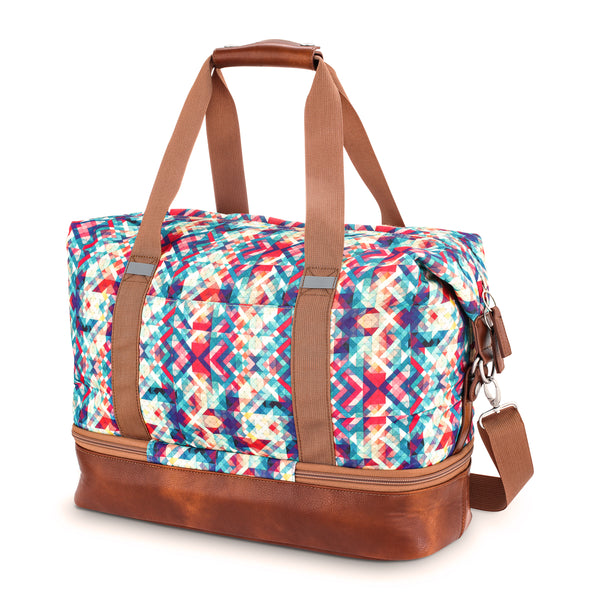 PoCampo Midway Weekender Gym Bag in Mosaic or Sky Stripes