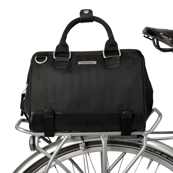 PoCampo Uptown Trunk Bike Bag in Black Herringbone or Mosaic