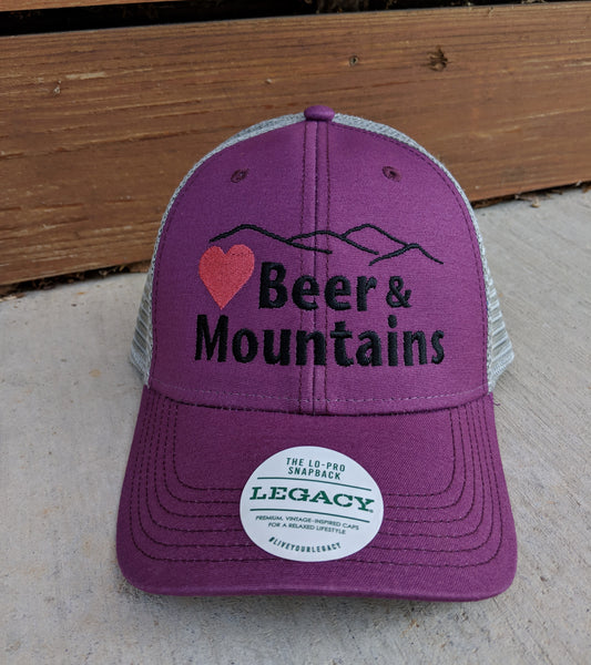 """For Love of Beer & Mountains"" Trucker Hat"