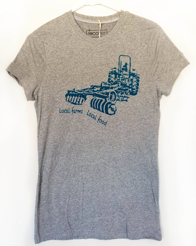Local Farms = Local Food Tractor Shirt (Women's Cut)