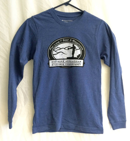 """For Love of Beer & Mountains"" Long Sleeve Shirt"