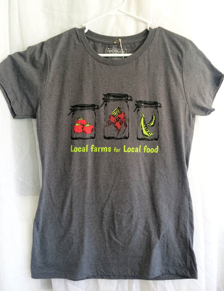 Local Farms = Local Food Canning Veggies T-shirt