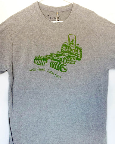 Local Farms = Local Food Tractor Shirt (Dry Tee)
