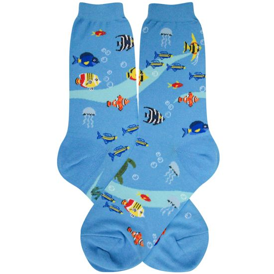Women's Aquarium Socks - Jilly's Socks 'n Such
