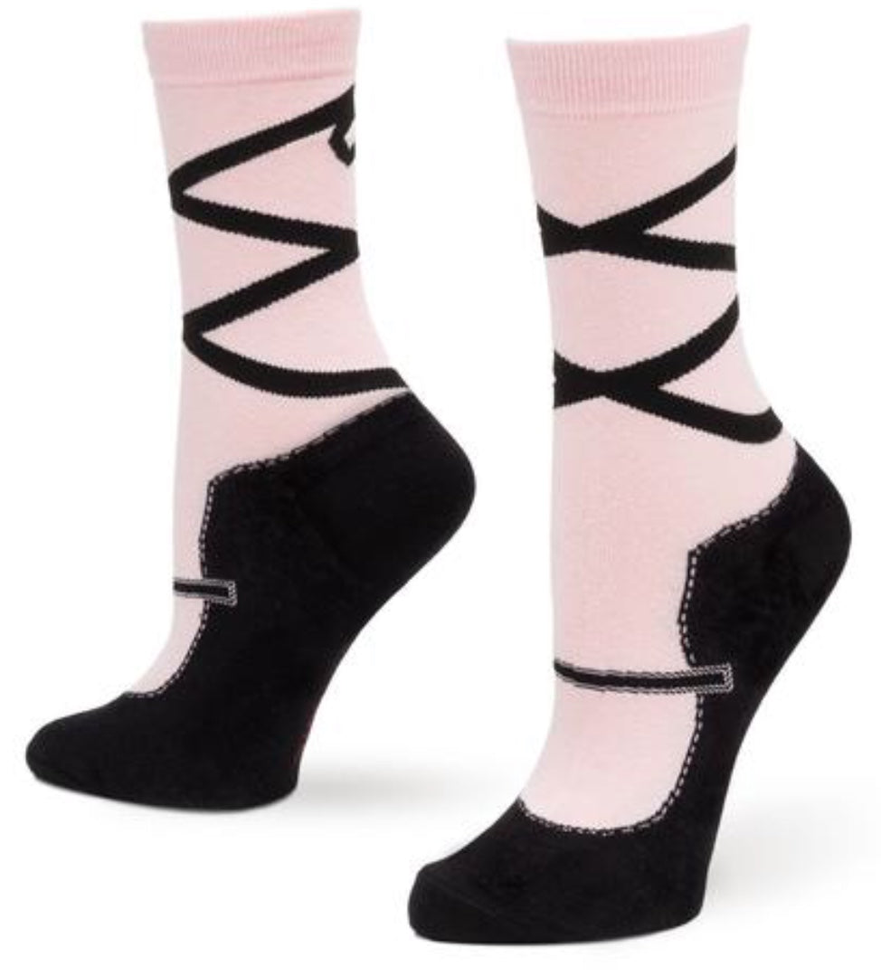 Women's Slipper Socks - Ballerina - Novelty Socks, Mens, Womens, Kids